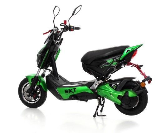 Sxt raptor 1200w eec road legal electric scooter black green 2 590 p